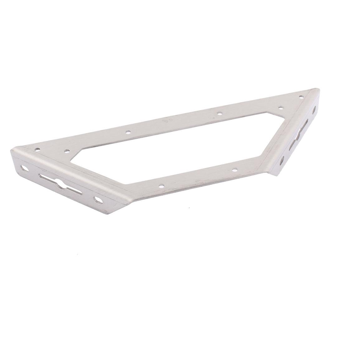 Home Furniture 90 Degree Corner Braces Angle Brackets Fastener Silver Tone