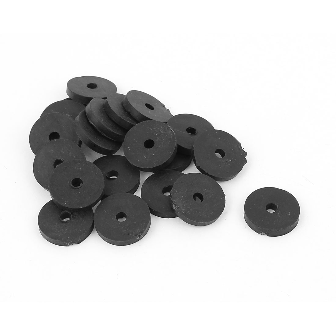 Faucet Rubber Washers Gaskets 20 Pcs Black for 3/8 BSP Female Thread Connector