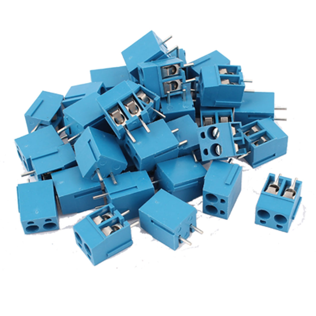 36 Pcs 2Pole PCB Screw Terminal Block Wire Connector 5.08mm Pitch Blue