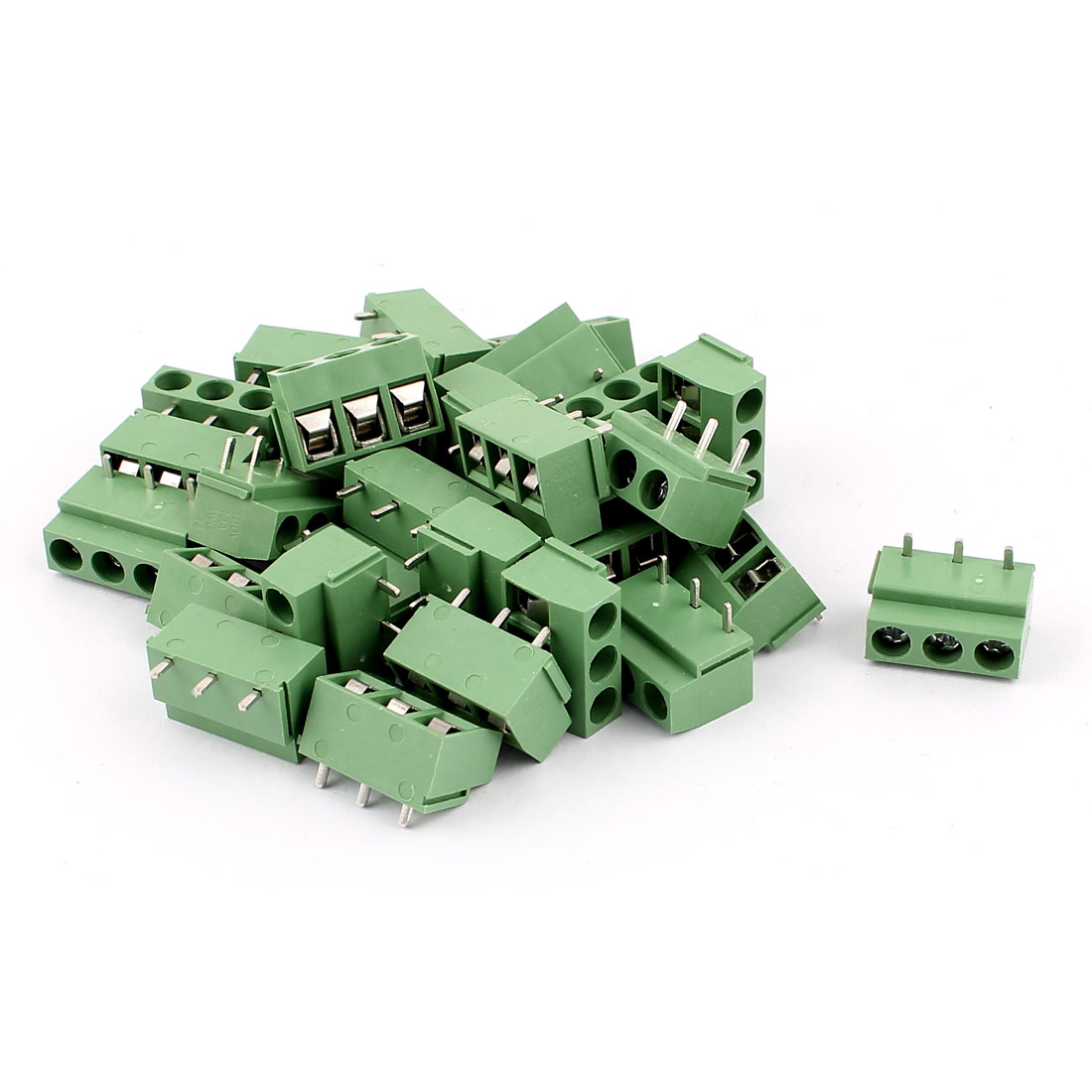 30Pcs 14-22AWG 3 Way 3P PCB Screw Terminal Block Connector 5.08mm Pitch