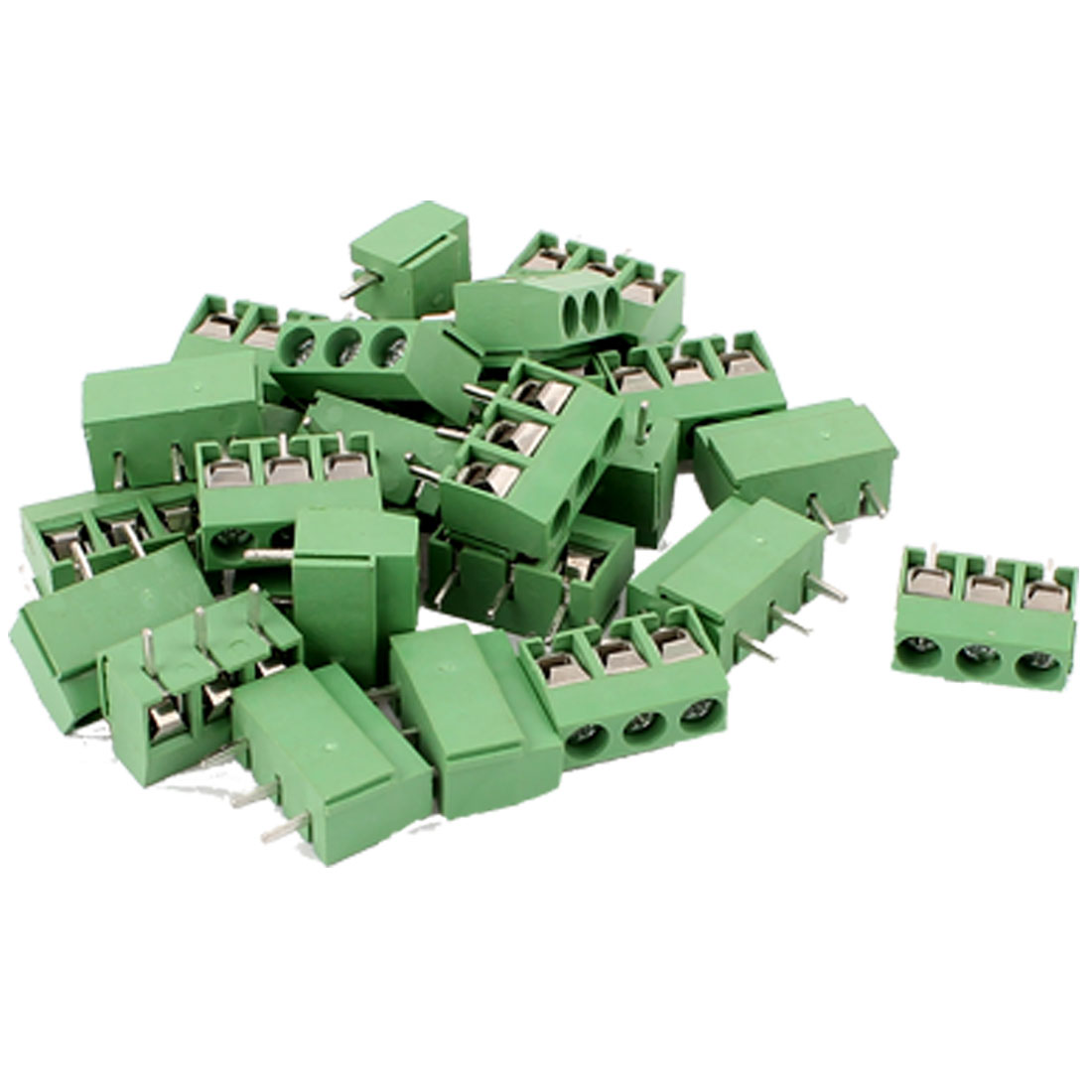 25 Pcs 14-22AWG 3 Way Plug-in PCB Screw Terminal Block Connector 5.08mm