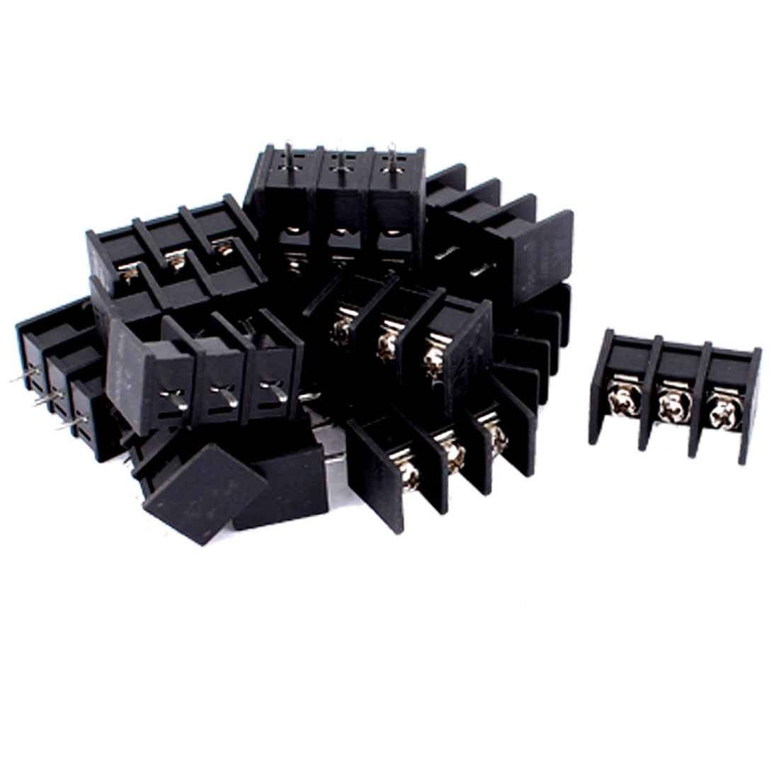 30 Pcs 3 Way PCB Screw Terminal Block Connector 9.5mm for 12-22AWG Wire