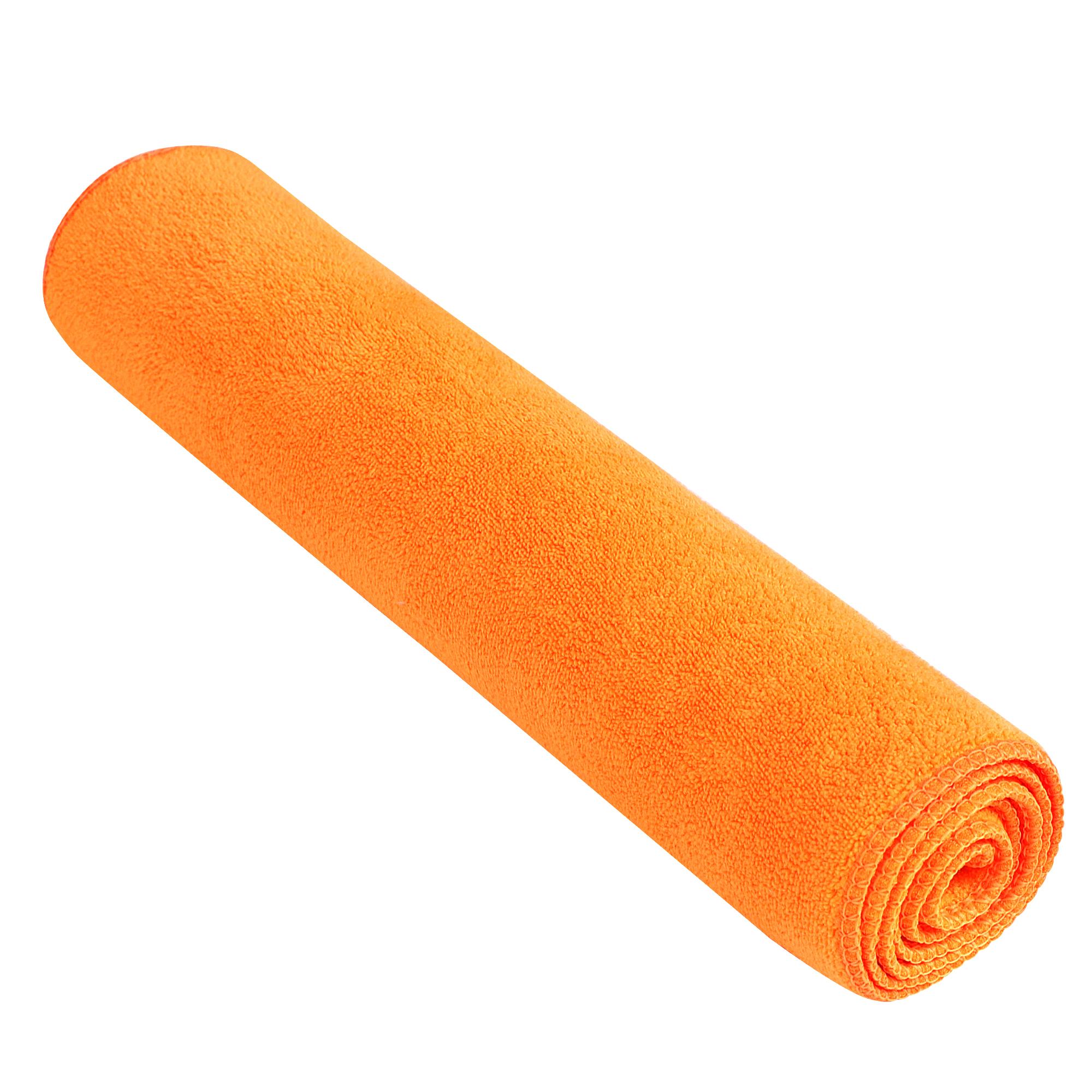 "28"" x 12"" Orange Microfiber Hair Wash Clean Drying Bath Shower Beach Towel Washcloths Cleaning Cloths"