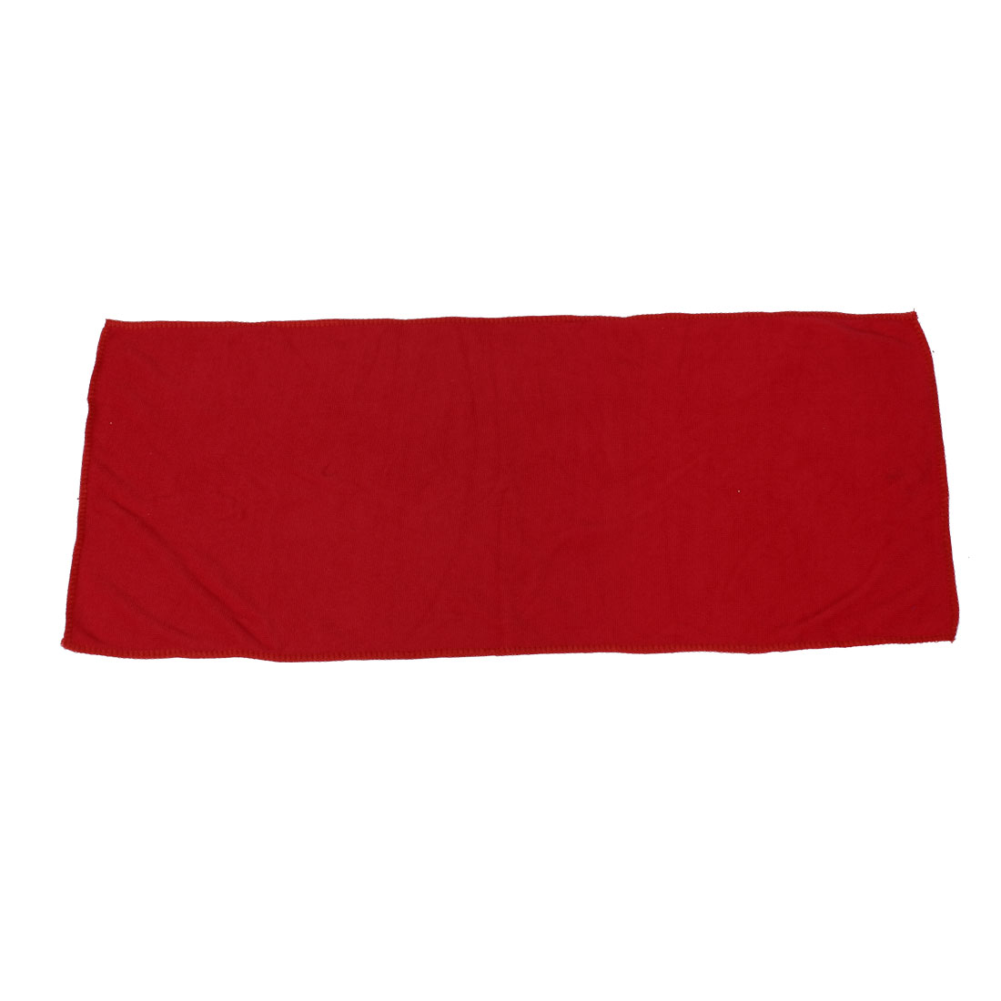 Travel Camping Red Microfiber Water Absorbent Hair Drying Bath Towel Spa Wash Washcloth 70 x 30cm