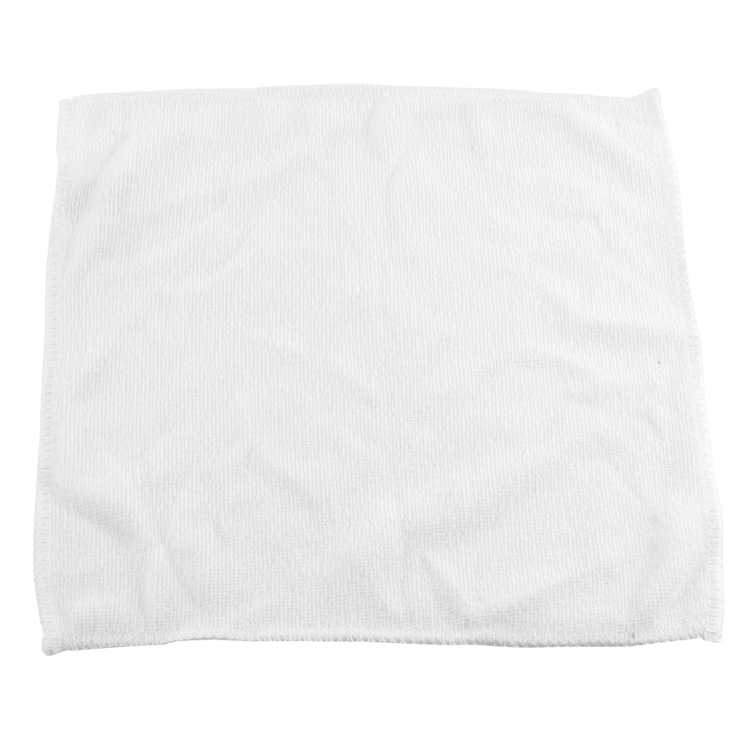 White Microfiber Water Absorbent Facial Hand Clean Drying Towels Wash Cleaning Cloths Washcloths Facecloths 25 x 25cm
