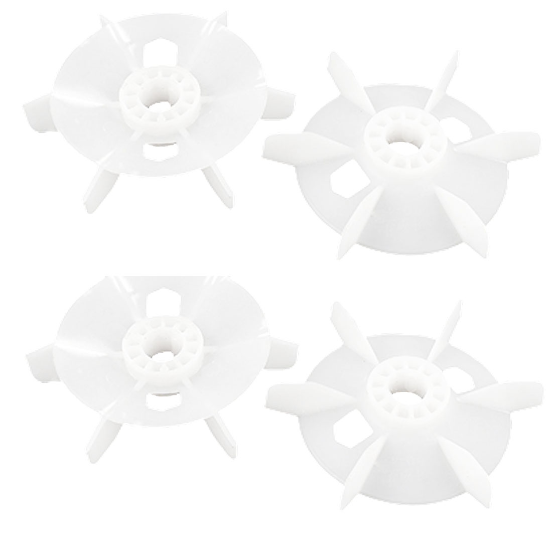 4pcs 6-Propellers White Plastic Motor Engine Cooling Radiator Fan Propellers Wheel Impeller for 18mm Shaft