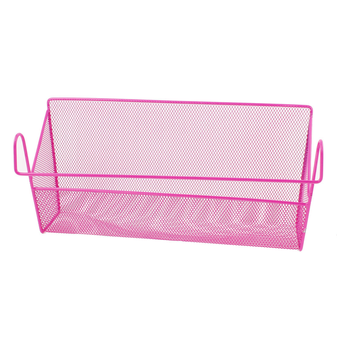 Home School Office Craft Stacking Hanging Organizer Nesting Wire Storage Bin Basket Rack Holder Fuchsia