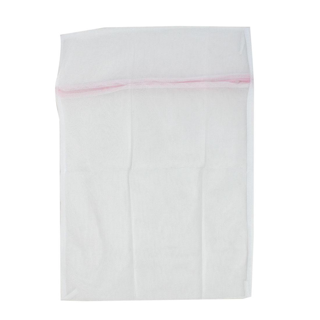Zip Up White Nylon Mesh Wash Medium Cloths Bras Underwear Laundry Net Washing Bag 40 x 50cm