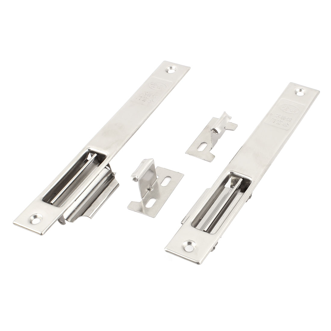 2pcs 192mm Long Aluminium Alloy Rectangular Sliding Closet Window Door Lock Locking Latch