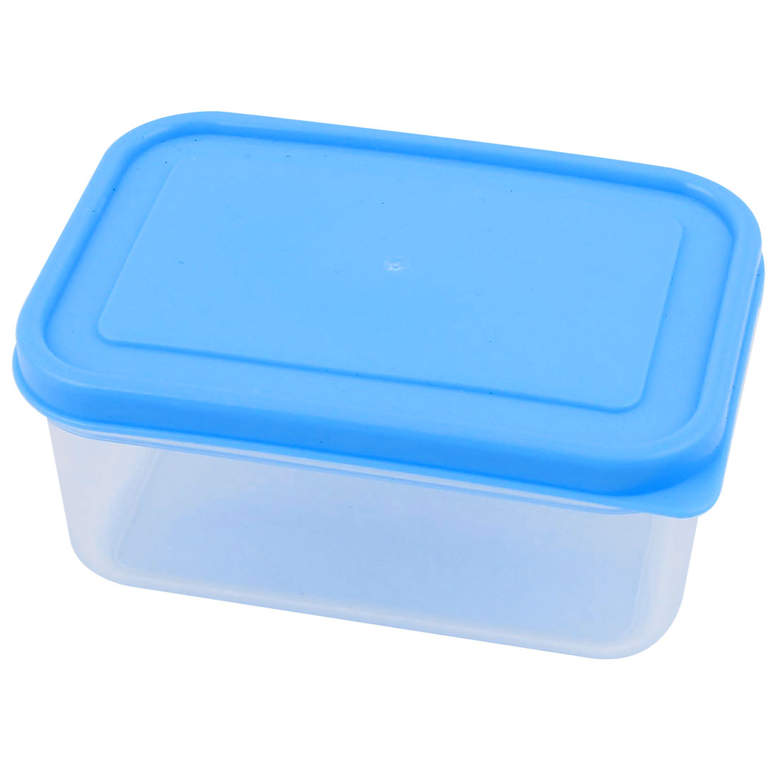 300mL Capacity Blue Cover Clear PP Vacuum Bento Crisper Food Storage Box Lunch Case Container