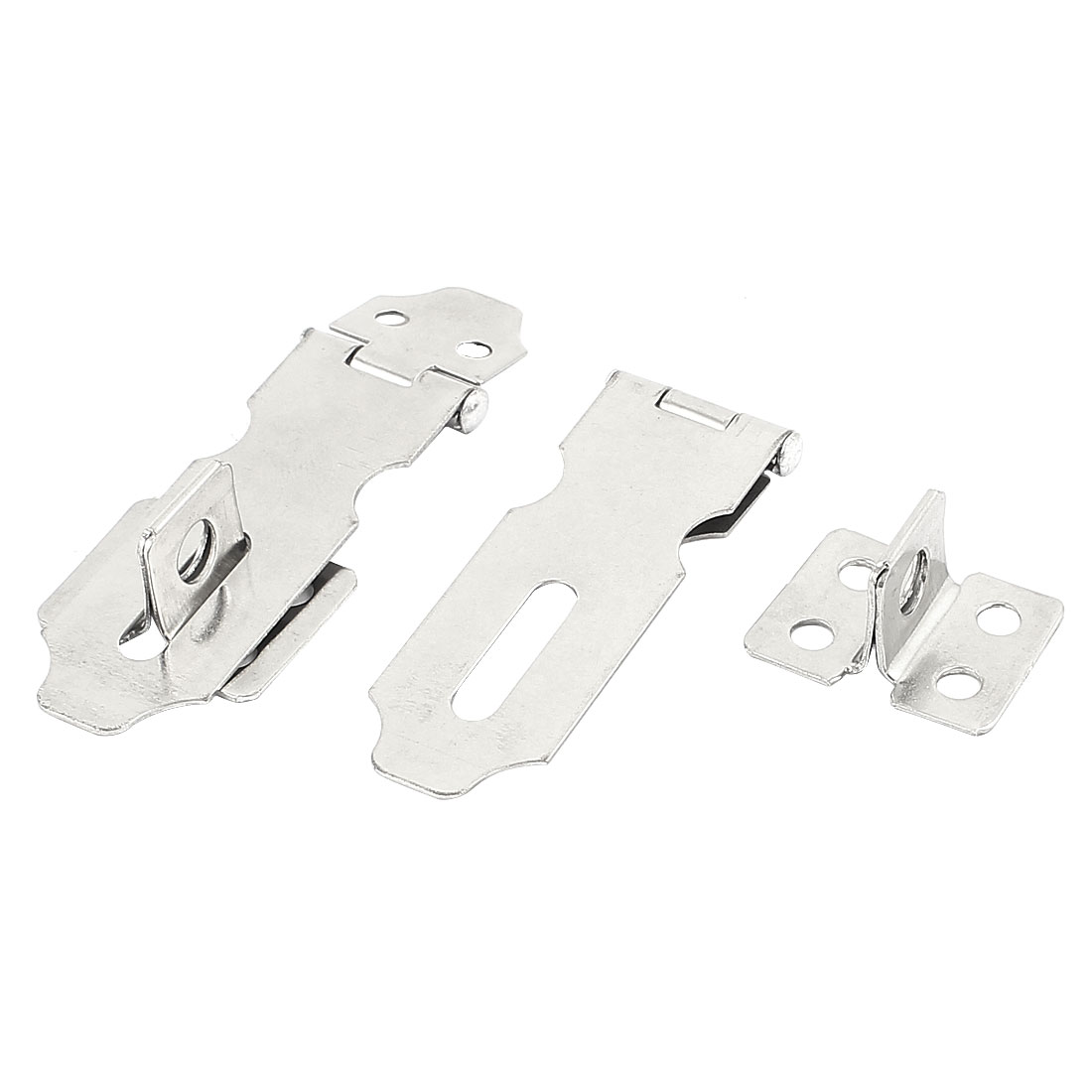 Home Office Cupboard Cabinets Window Door Padlock Latch Lock Hasp Staple Sets 56mm Long 2pcs