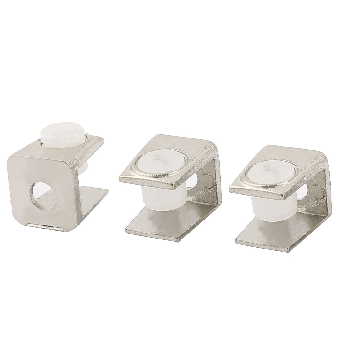 3Pcs Zinc Alloy Rectangle Shelf Support Holder Clamp Clip for 3-8mm Thickness Glass