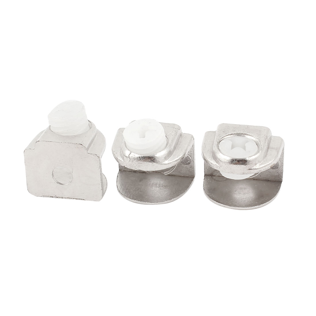 3PCS 6mm-10mm Adjustable Half Round Stainless Steel Glass Door Fixed Clamp Clip Holder Shelf