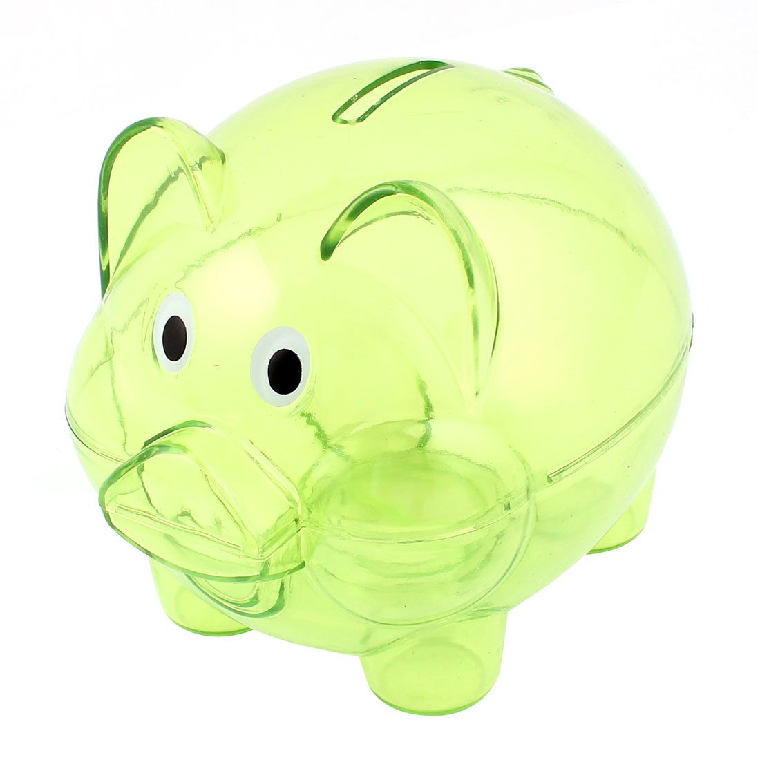 Clear Green Plastic Collectible Piggy Bank Coin Savings Saver Money Cash Collection Safe Box Case