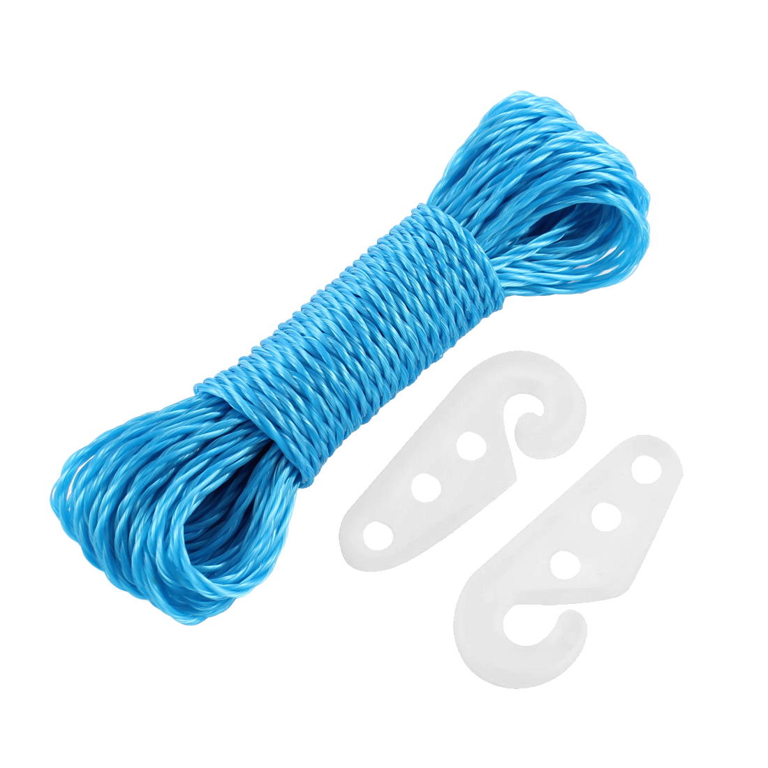 Camping Indoor Outdoor Laundry Blue Nylon Clothesline Housekeeping Cloths Line Rope String 33Ft 10Meters Length