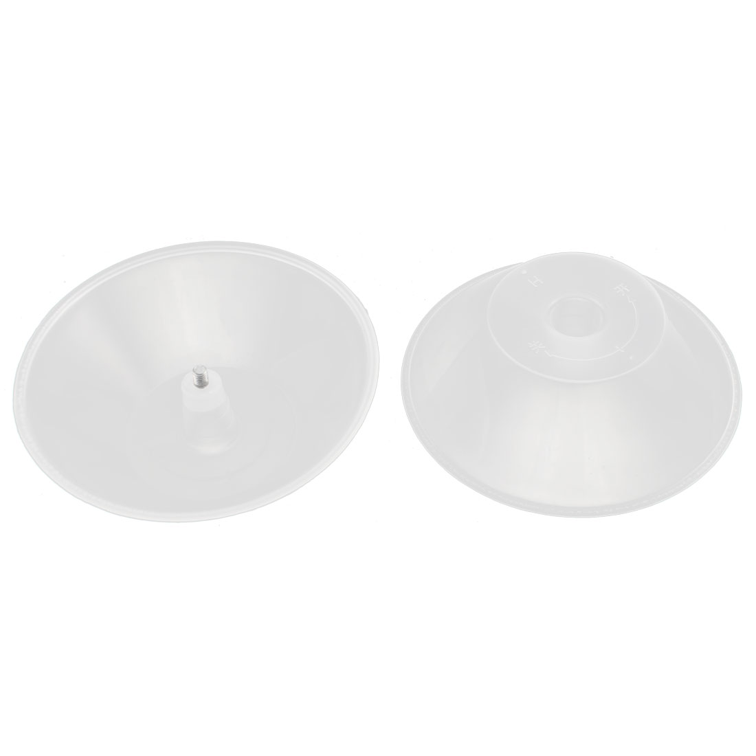 2PCS 4.3 Inch Dia Transparent Plastic Oil Collecting Cup Tray Filter Kitchen Range Hoods Parts