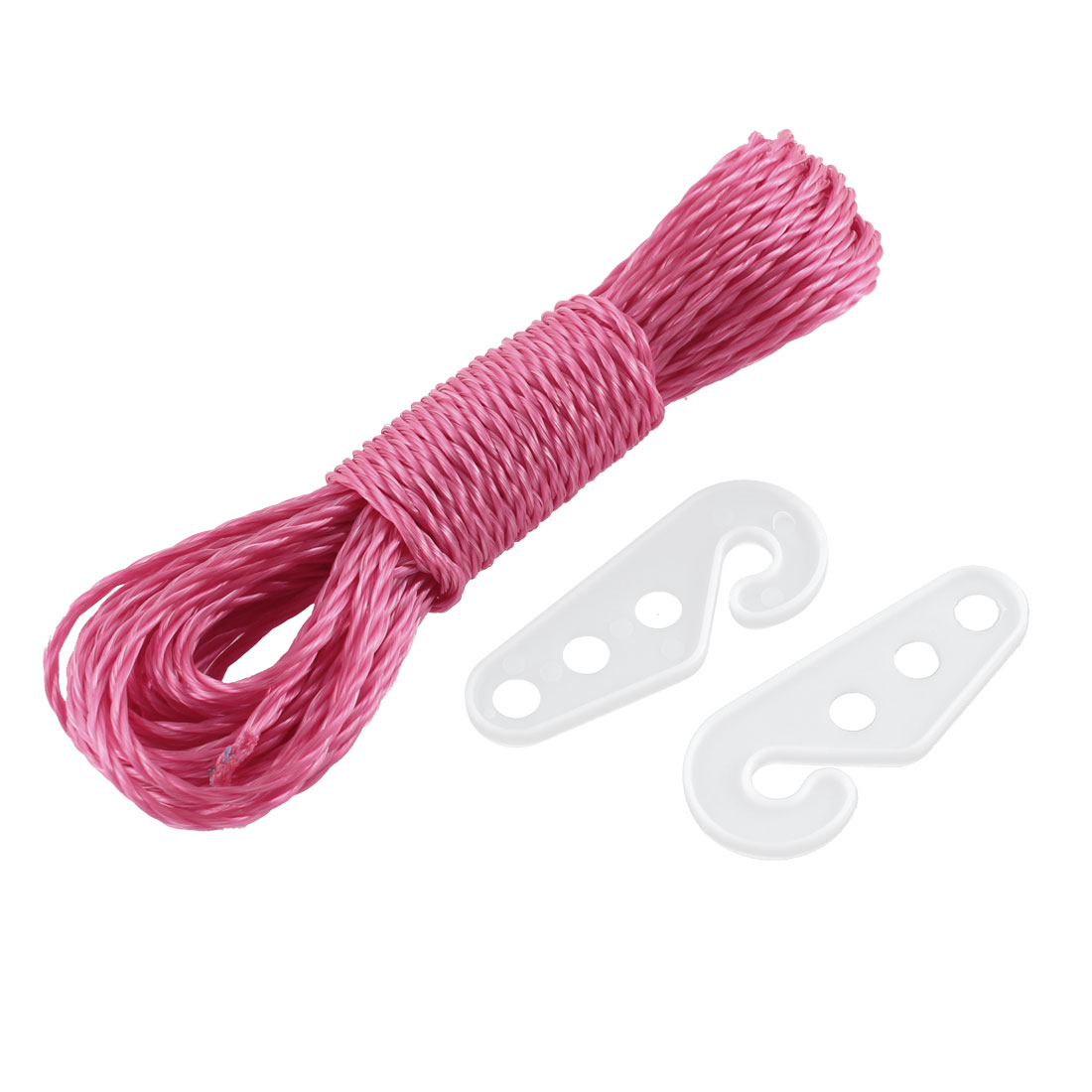 Household Hotel Outdoor Laundry Fuchsia Nylon Clothesline Housekeeping Cloths Line Rope String 33Ft 10M Long
