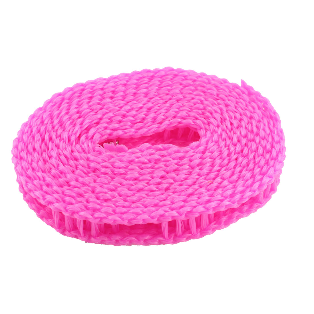 Home Plastic Stockade Style Metal Hook Detail Barrier Clothesline Pink