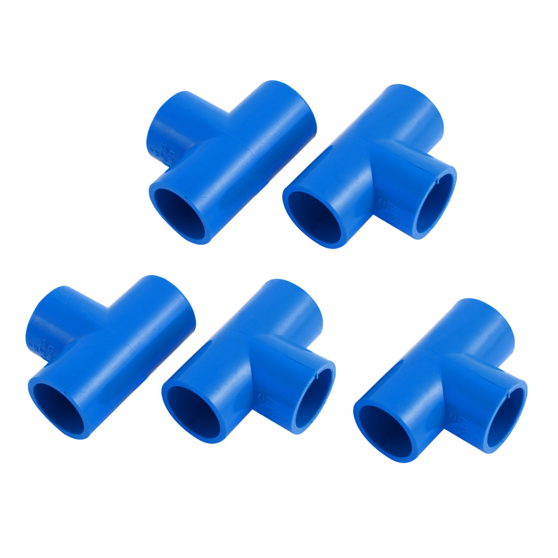 5PCS T-shaped 3 Way Drinking Water Tube Pipe Fitting Coupler Connector Adapter Plumbing Tubing Kitchen Bathroom