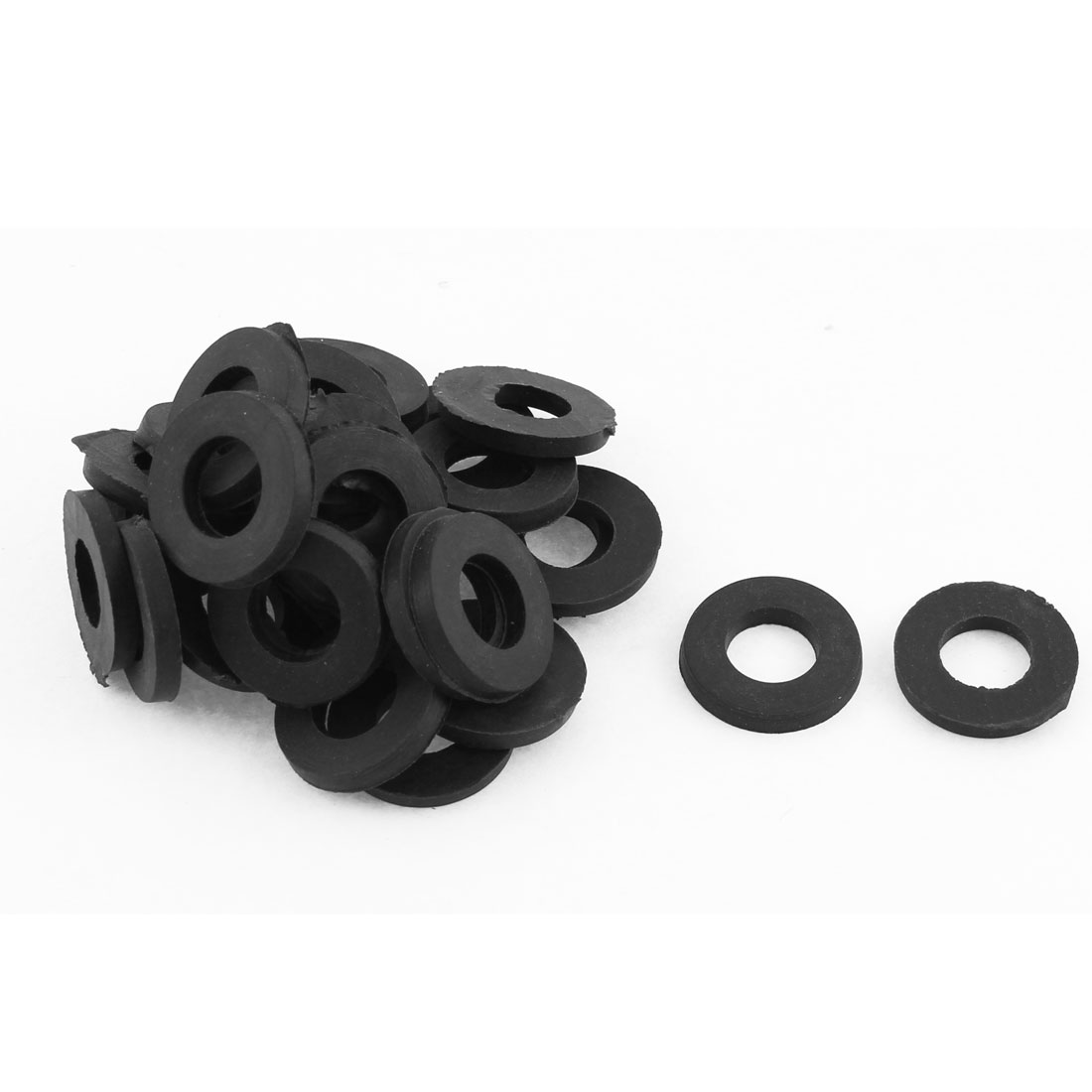 30PCS 19x10x3mm Black Rubber Washer O Ring Seal Tap Sink Water Tube Gasket Plumbing Sealing