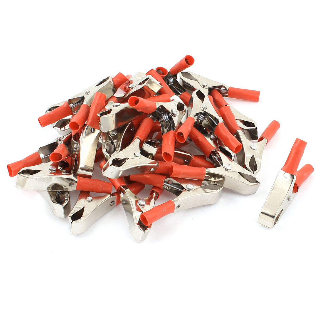 30 Pcs Red Insulated Alligator Clip Car Battery Test Connector 30A