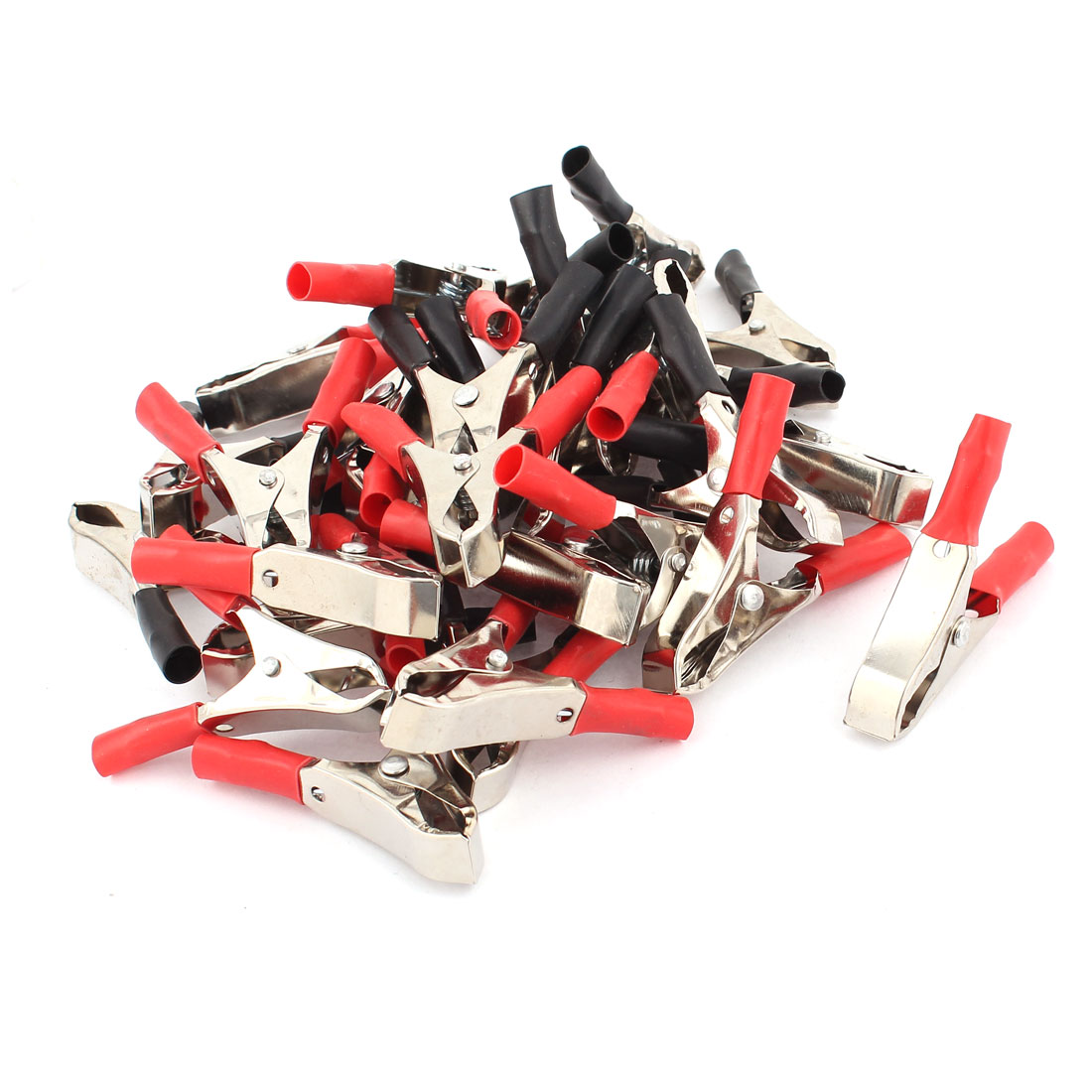 15 Pairs 30A Car Battery Alligator Clip Electrical Test Clamp Red Black