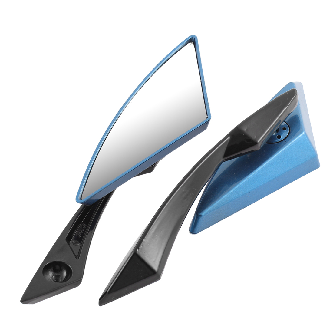 Pair Blue Motorcycle Adjustable Angle Rearview Blind Spot Mirrors for Halley