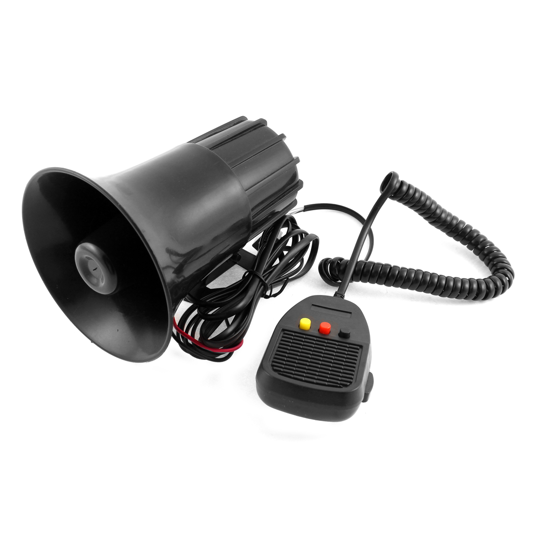 DC 12V 3 Tone Black Plastic Motorcycle Speaker Warn Loud Horn Trumpet