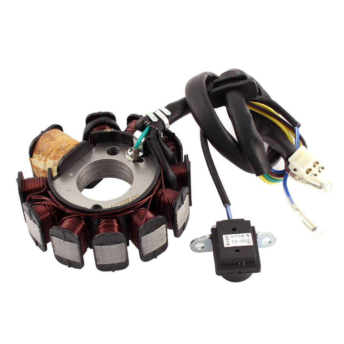 Motorbike Round Modified Part Copper Magneto Engine Stator Generator Charging Coil 4A 35W GY6125-11