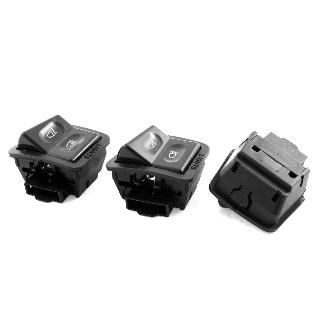 3 Pcs 2 Position Headlight Light Push Bottom Switch for Scooter Motorcycle