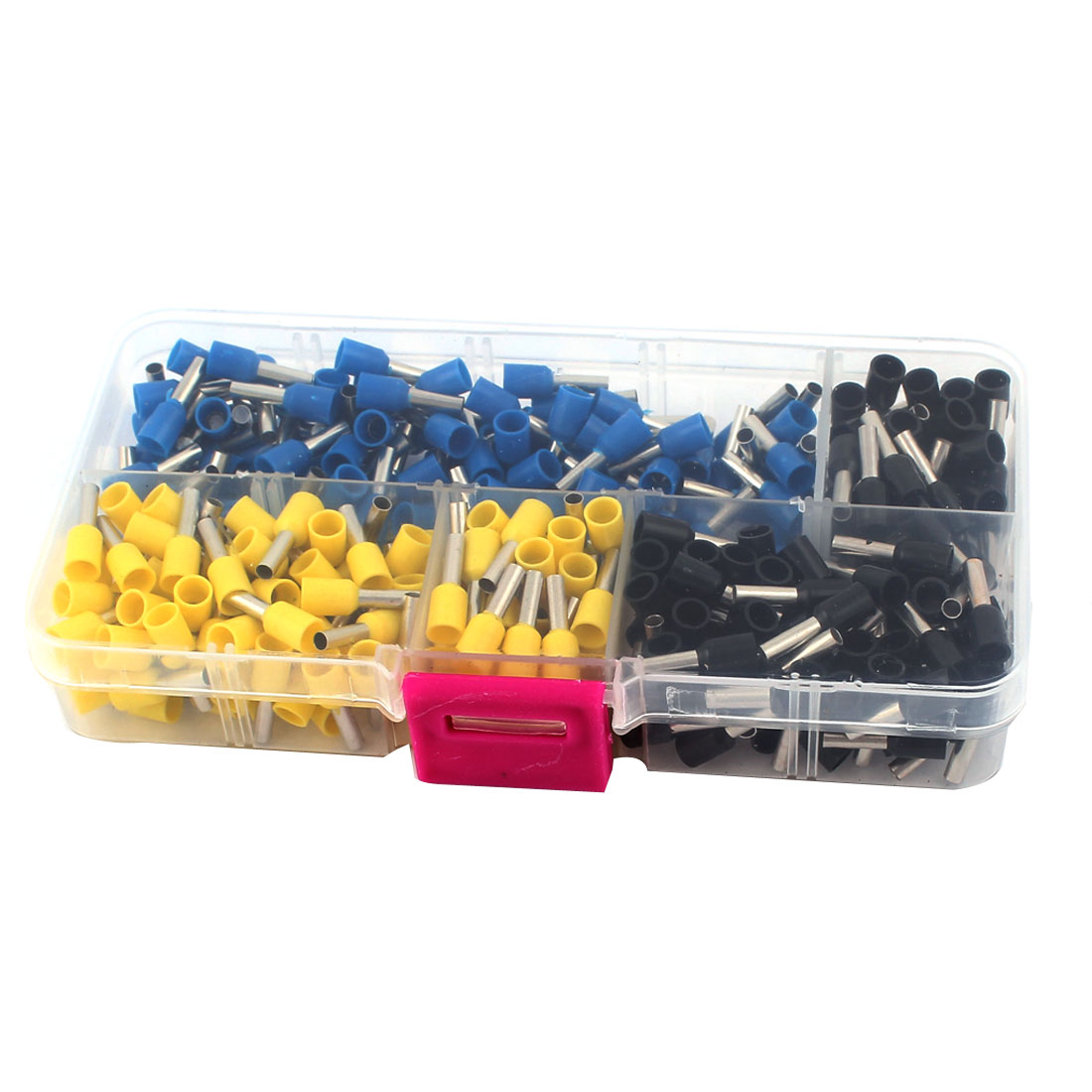 300 Pcs AWG14 Insulated Ferrule Terminal Wire Crimp Connector Assorted Set w Box