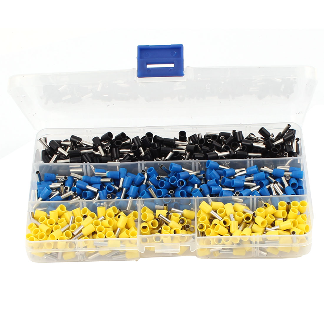 600 Pcs AWG14 Insulated Ferrule Terminal Wire Crimp Connector Assorted Set