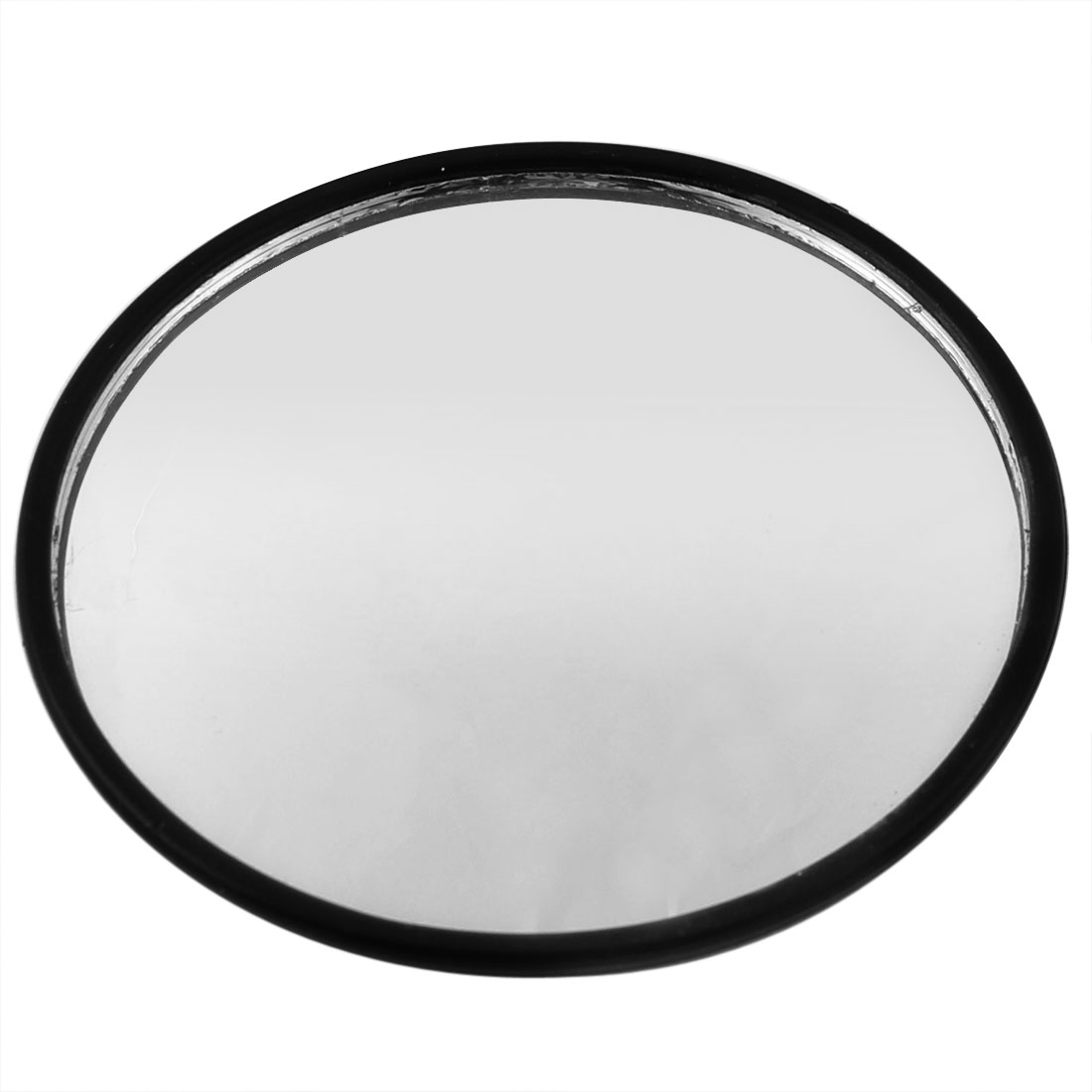Sliver Tone Plastic Wide Angle Round Convex Blind Spot Mirror for Car Auto