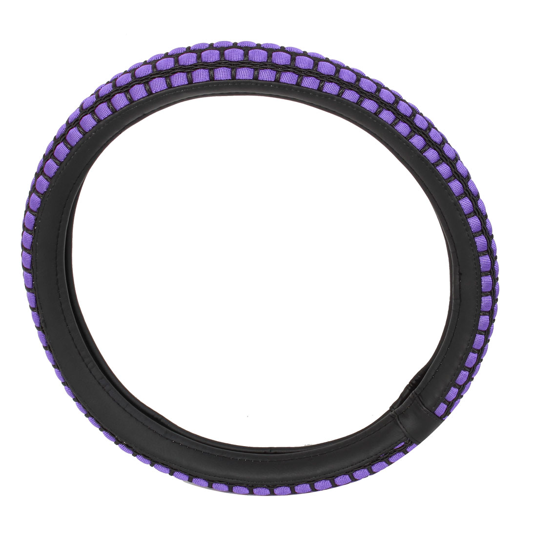 Concave-convex Style Antislip Steering Wheel Cover Purple for Car Vehicle