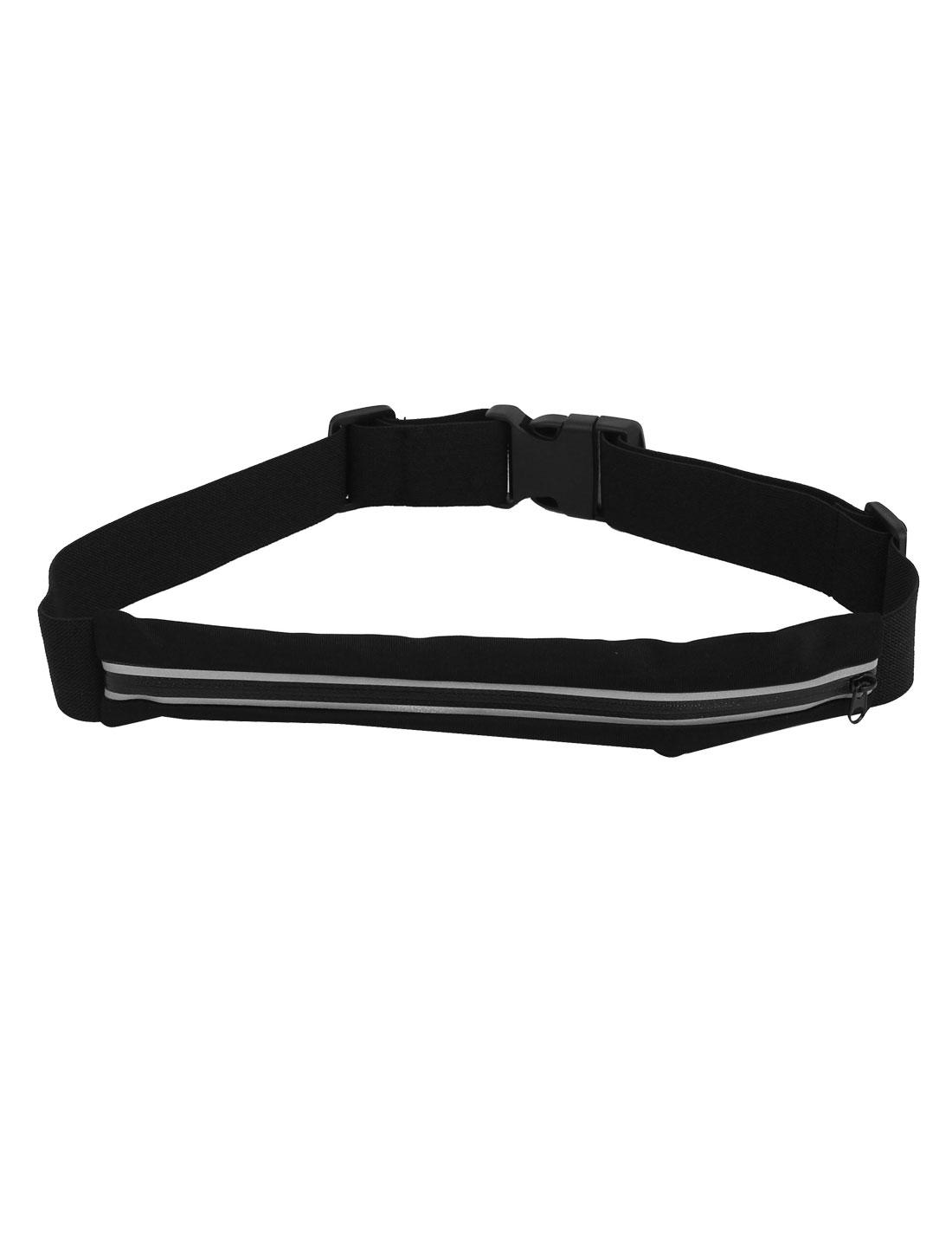 Elastic Reflective Safety Zipper Closure Runner Waist Bag Pouch Wallet