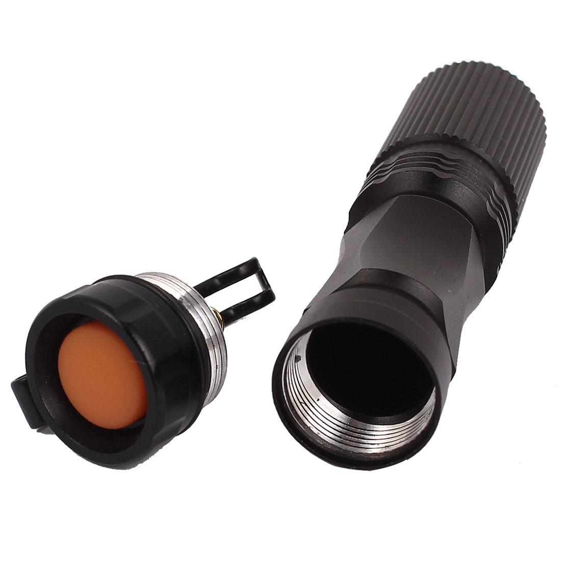 Black 1xAA Battery Powered LED Mini Flashlight Torch