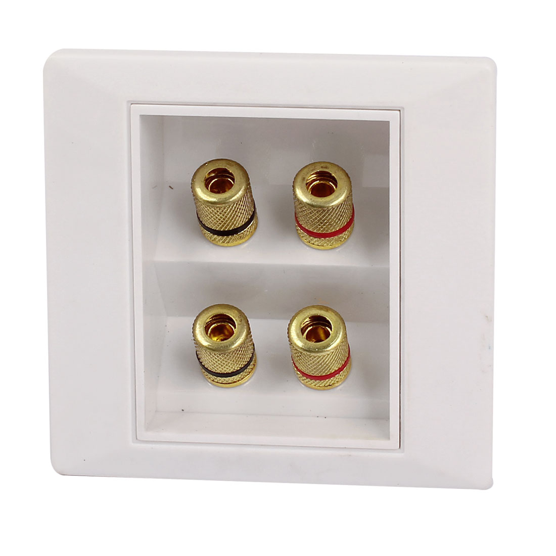 Audio System Four Adapter Banana Jack Wall Plate Panel Face Connector