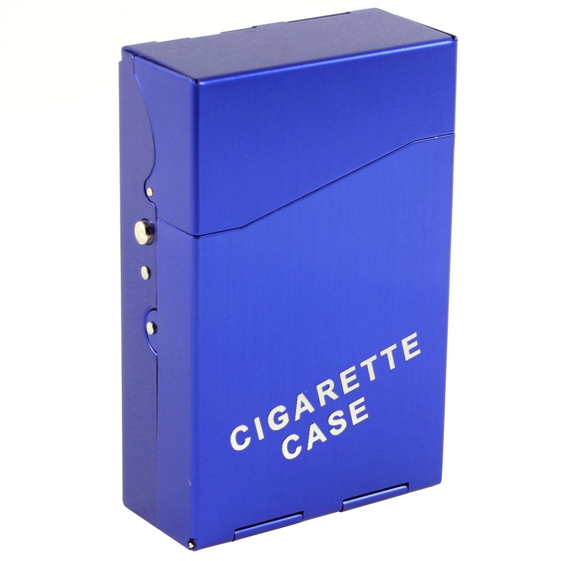 Tobacco Cigar 20 Capacity Rectangle Cigarette Case Box Holder Pocket Blue