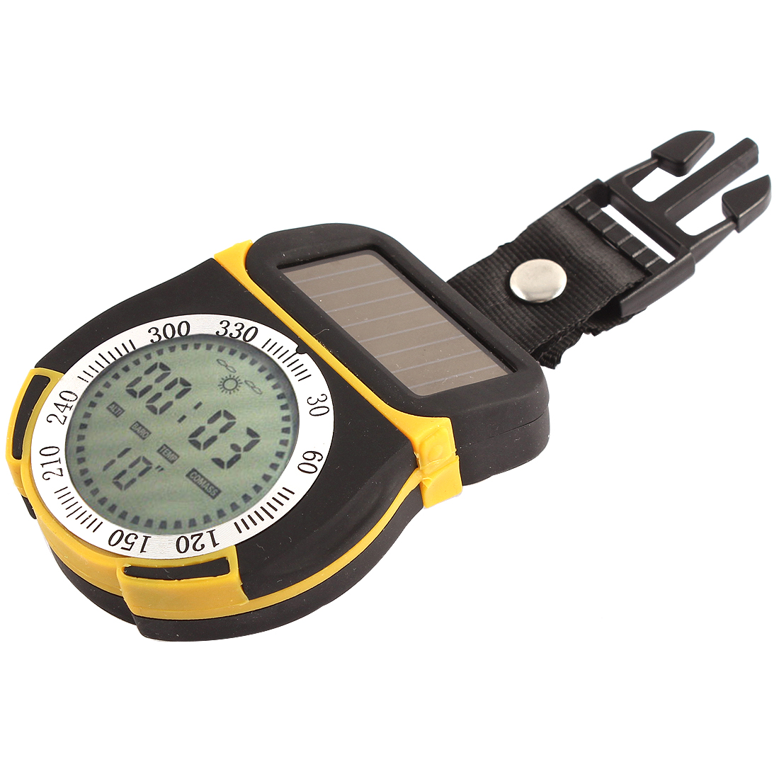 Multifunctional Barometer Thermometer Compass Solar Power Digital Altimeter