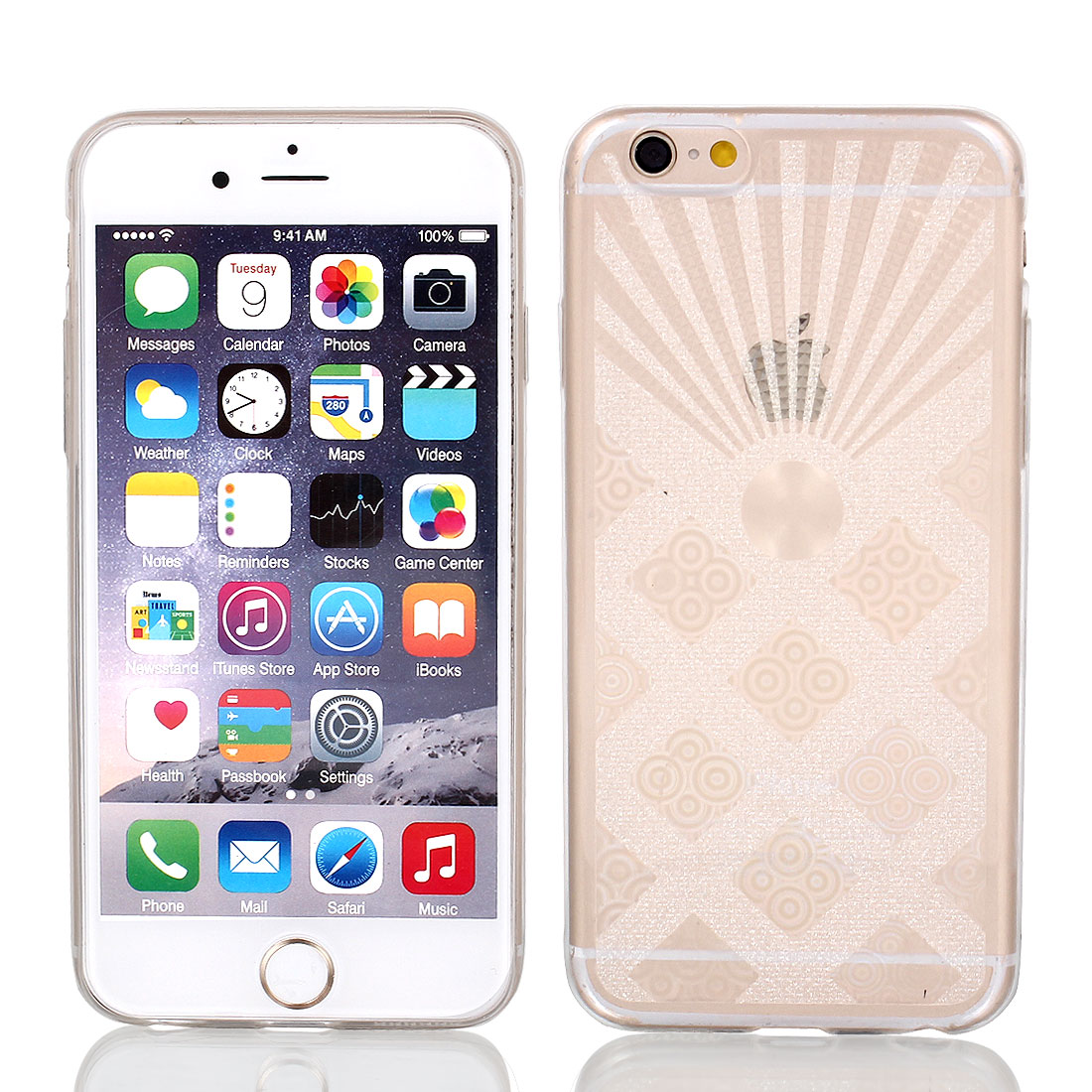 Clear Luminous Back Case Protector w Protective Film Wiper for Apple iPhone 6 4.7""