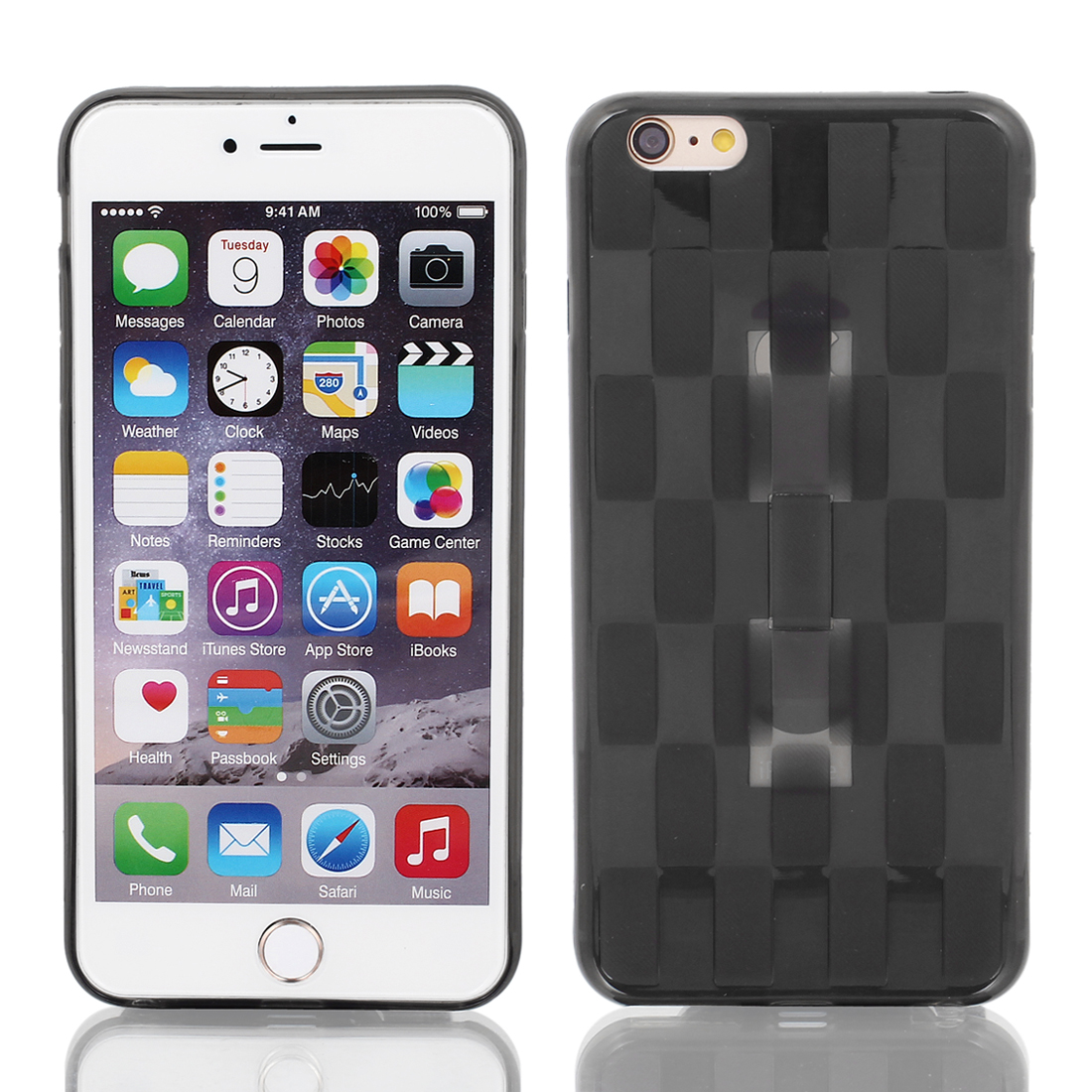 TPU Ultra-thin Rugged Hybrid Skin Case Cover Black for iPhone6 Plus 5.5""