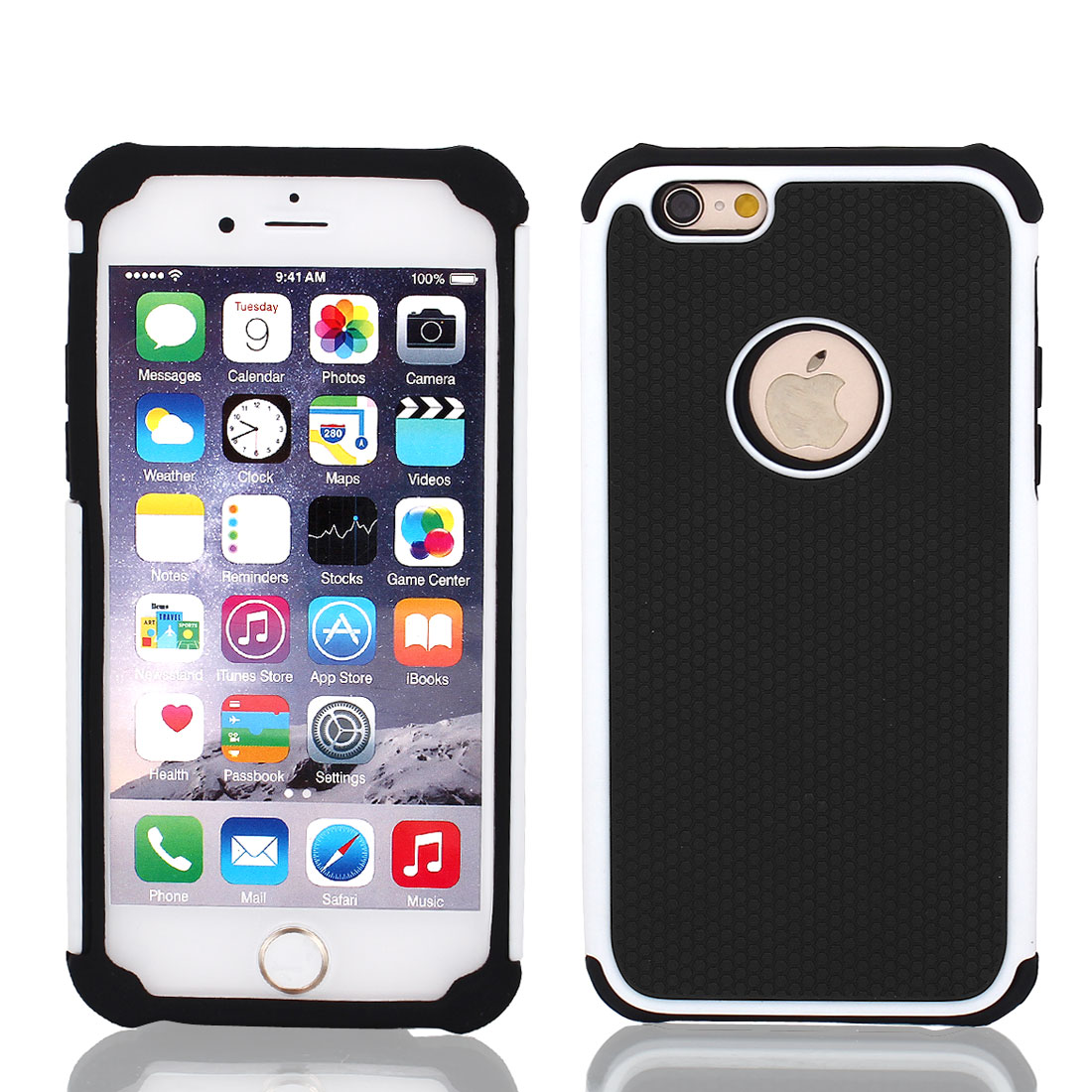 Shockproof Hybrid Builder Silicone Protective Cover Case for iPhone 6 Plus 4.7""