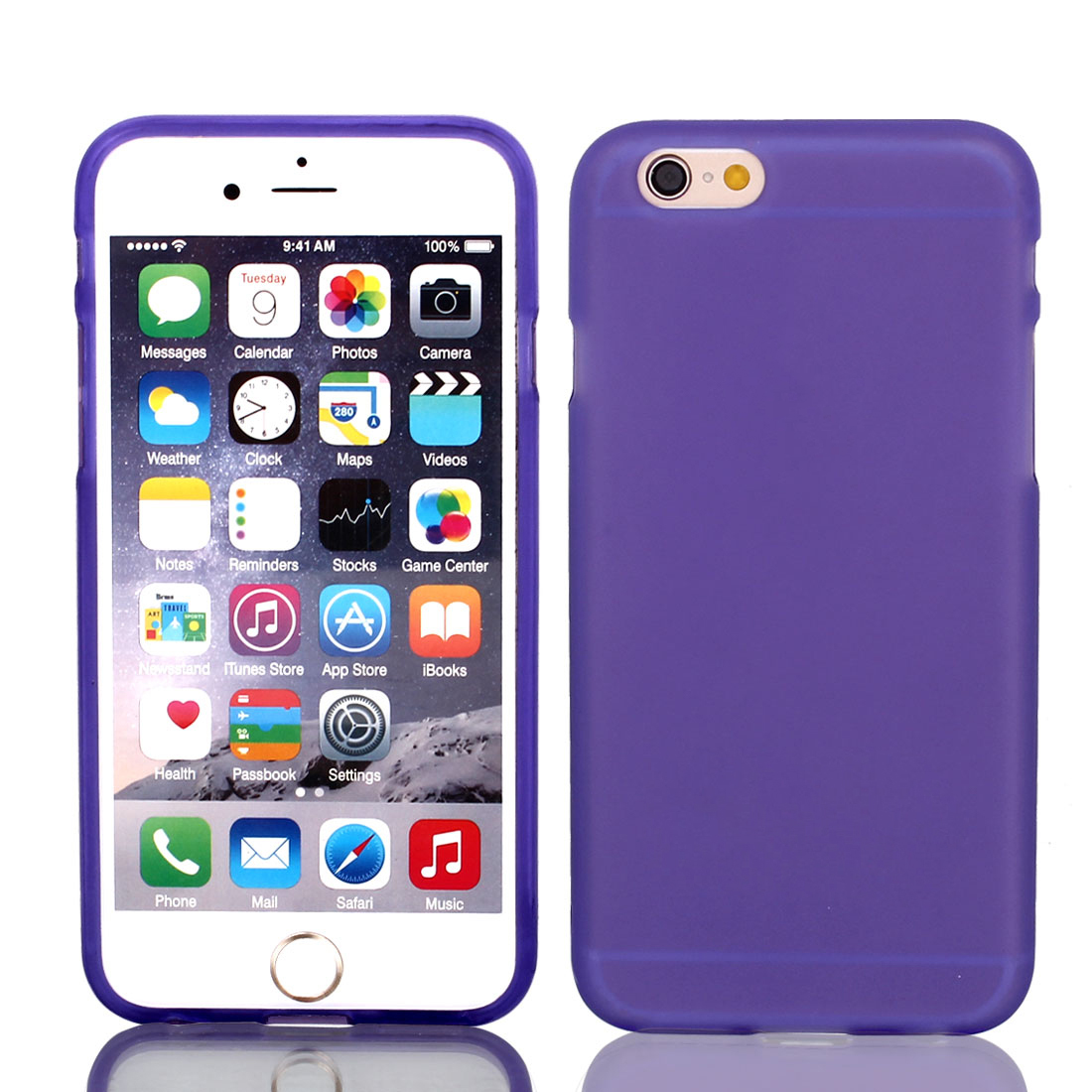 """Purple TPU Ultra Thin Case Cover + Protective Film for iPhone 6 4.7"""""""