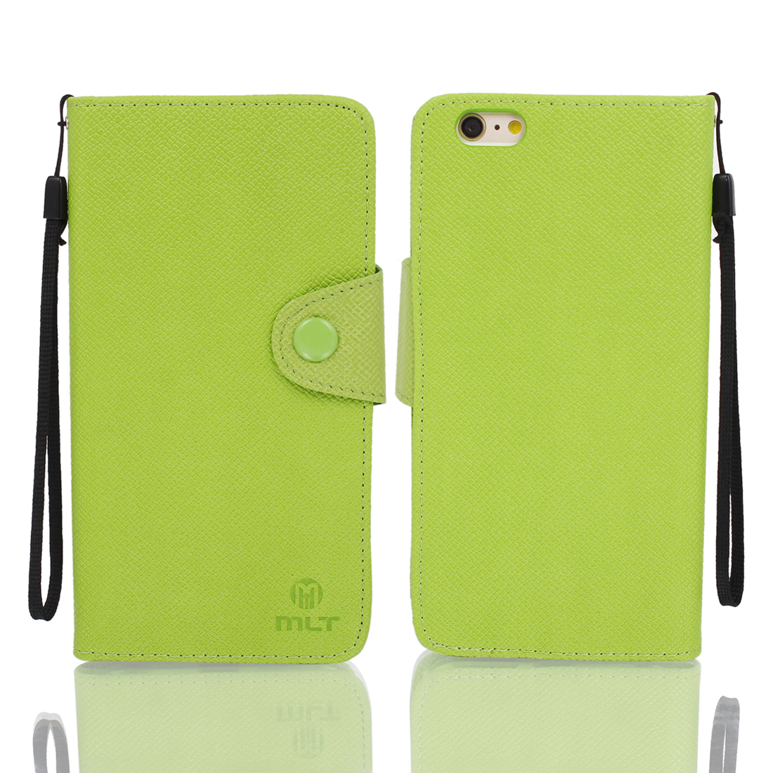 Magnetic Flip PU Wallet Pouch Case Cover Skin Green for iPhone 6 Plus 5.5""