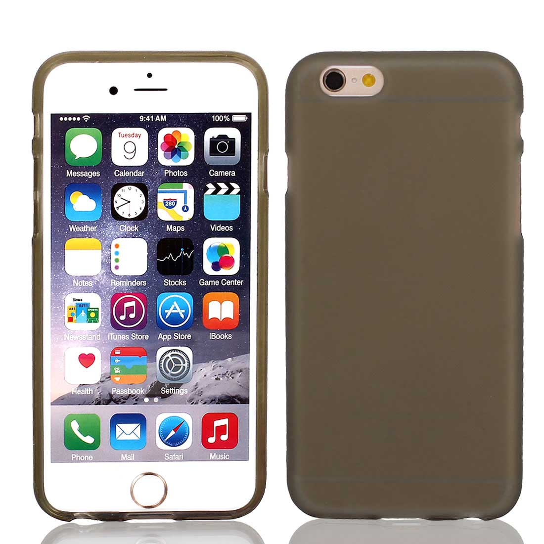 TPU Ultra Thin Bumper Case Cover Transparent Gray for iPhone 6 4.7""