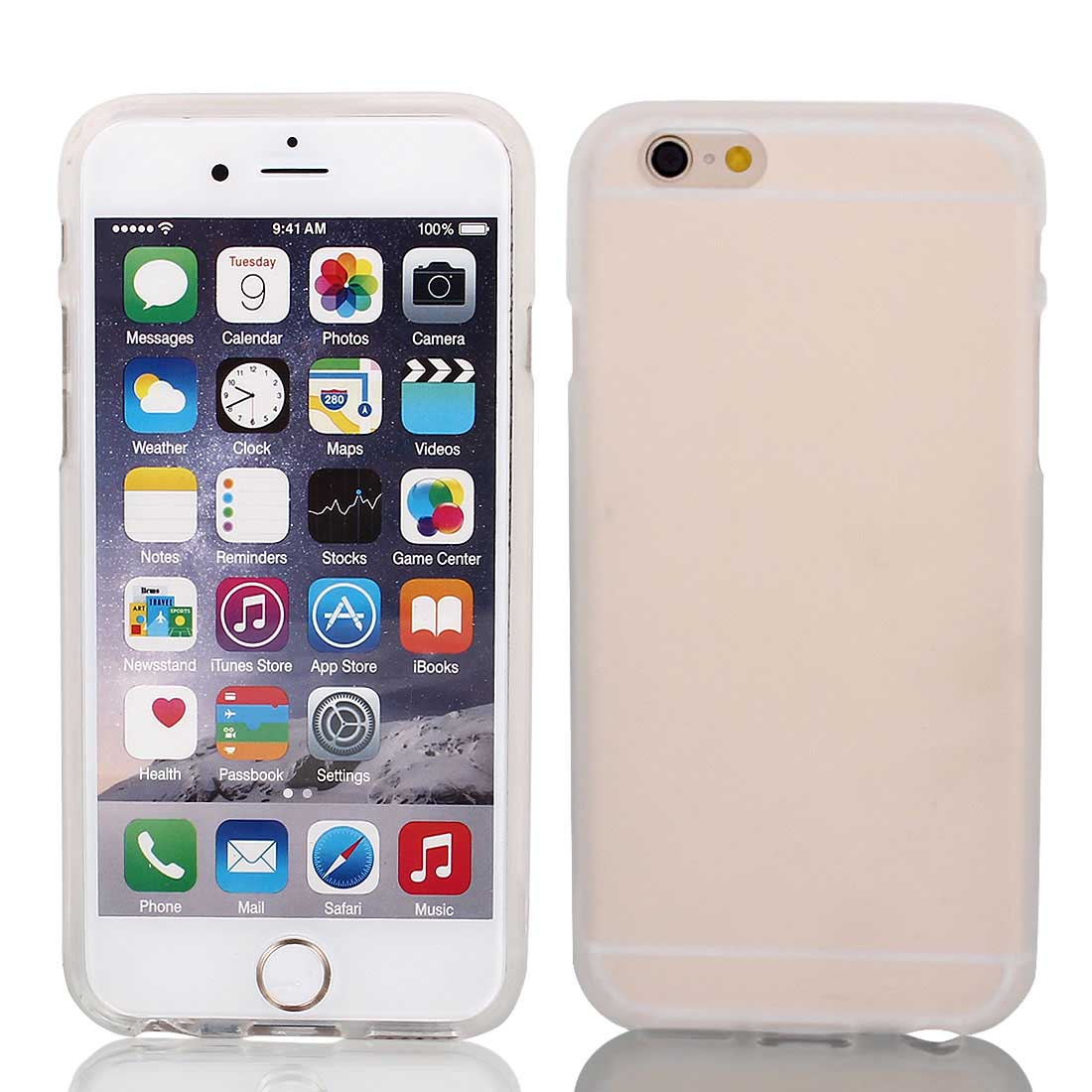 Clear TPU Ultra Thin Case Cover + Protective Film for iPhone 6 4.7""