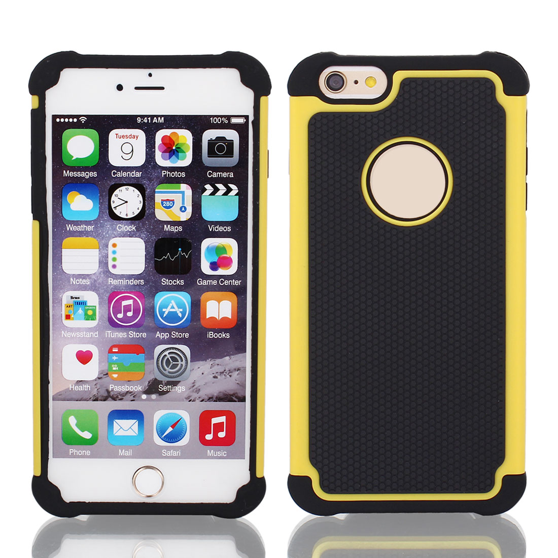 Shock Proof Hybrid Builder Cover Hard Silicone Case for Apple iPhone 6 Plus