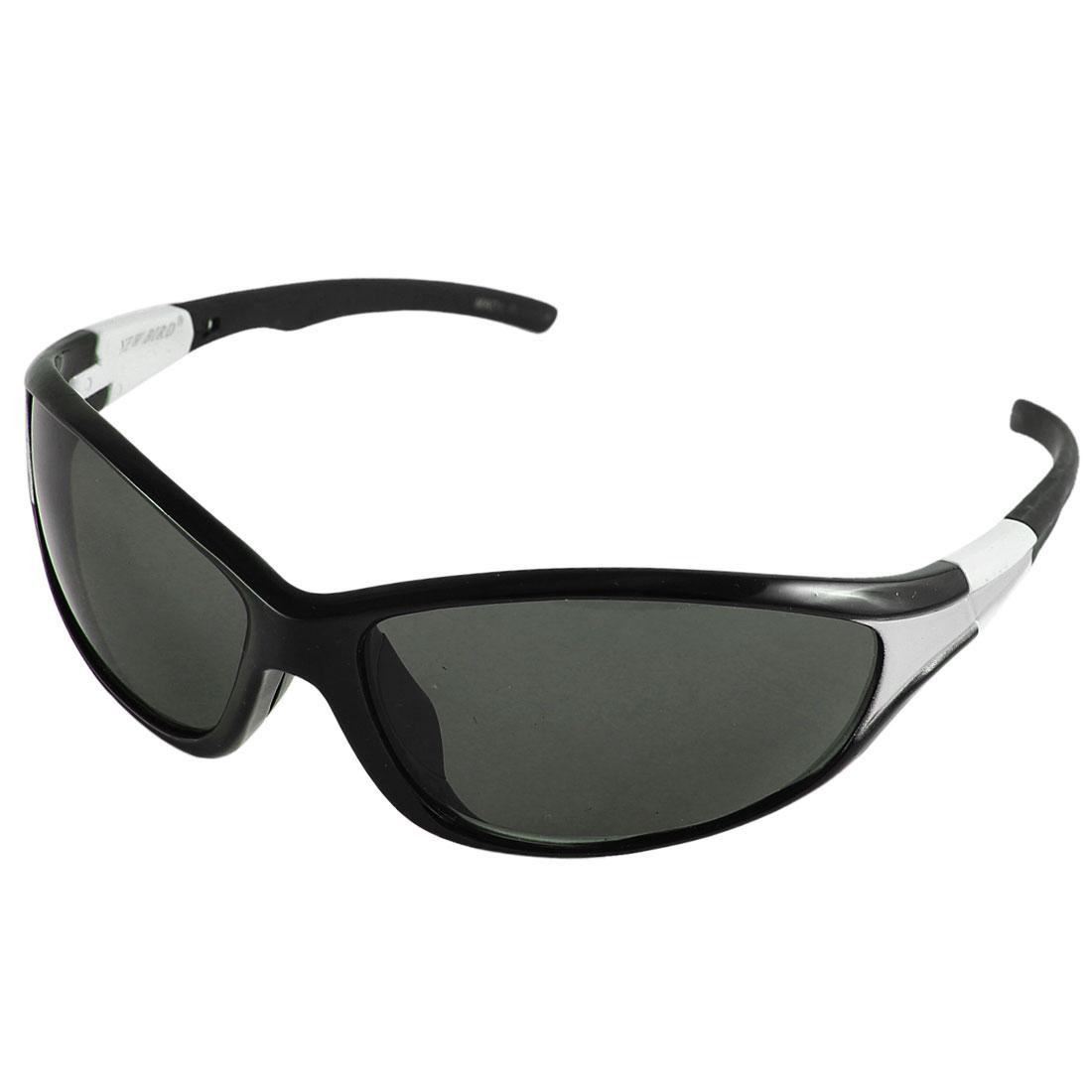 Lady Plastic Rectangle Full Rim Single Bridge Dimgray Lens Sunglasses