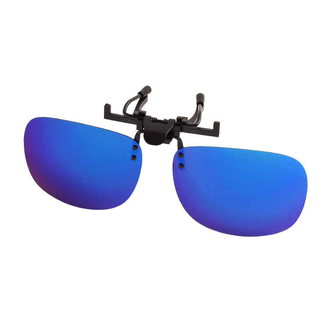 Unisex Hiking Gradient Blue Lens Rimless Clip On Polarized Sunglasses