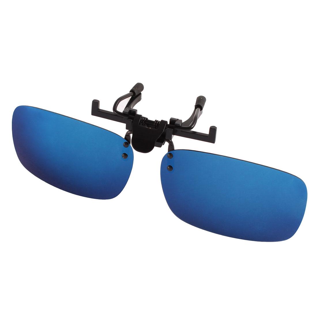 Unisex Fishing Yale Blue Lens Rimless Clip On Polarized Sunglasses